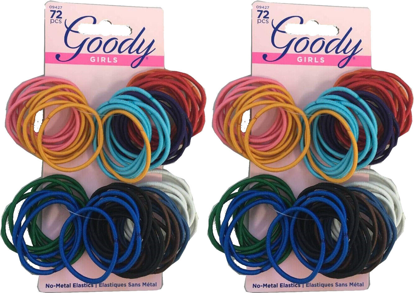 Goody Ouchless No Metal Gentle Elastics Gd09427 72 Pieces Pe