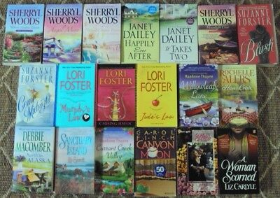 Mix Lot Of 19 Romance P B Books  Dailey  Woods  Macomber  Foster  Etc  L  K