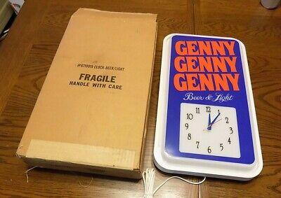 VINTAGE GENESEE GENNY GENNY GENNY BEER LIGHT CLOCK NEVER USED