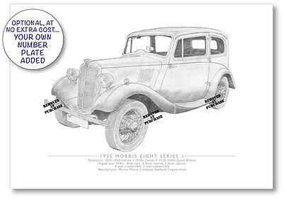 Morris Eight Series 1 1935 A5 print