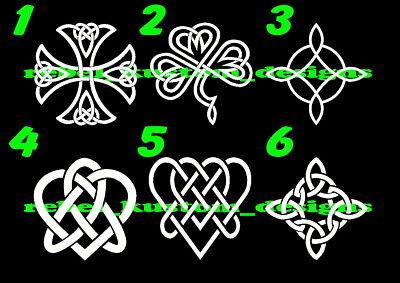 Celtic Knot Cross Heart Shamrock Irish vinyl decal wall door sticker decor PICK2