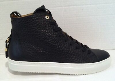 NWOBX ANDROID HOMME MENS ALFA HIGH BLACK & WHITE US SZ 12 SZ 45 ITALY MADE