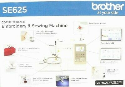 Brand New Sealed Brother SE625 Computerized Sewing and Embroidery Machine for sale  Shipping to South Africa