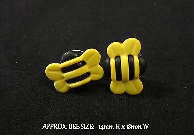 Honey Bumble Bee Earrings-Honeybee Bumblebee Stud Earrings-Hypoallergenic