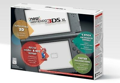 New Nintendo 3DS XL Handheld Console System, Black, Brand New