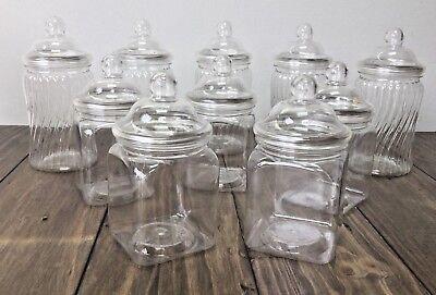 10 Small Mixed Spiral & Square Sweet Jars Candy Cart Buffet Christening Wedding](Buffet Jars)