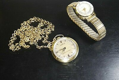 dc8ccbfa09a5 LOT OF 2 VINTAGE WATCHES HARVESTER POCKET WATCH SPARTAN WOMEN WRIST WATCH  REPAIR