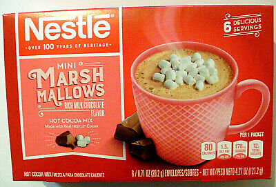 NESTLE MINI MARSHMALLOWS 6 Pack Rich Hot Cocoa Mix Best Before 2/21 0.71