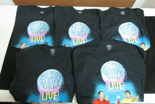 NEW LOT OF 5 MYSTERY SCIENCE THEATER 3K LIVE 2018 TOUR T-SHIRT 30TH ANNIV. LARGE