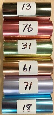 Kingsley Hot Stamp Stamping Foil - Pastelspales-6 Roll Pk - 3 X 95 -free Ship