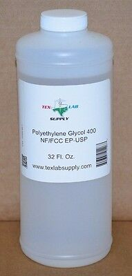 Polyethylene Glycol 400 Peg 400 Nf-fccep-usp 32 Oz. - Food Gradeconcentrates