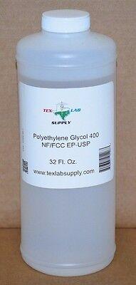 Polyethylene Glycol 400 Peg 400 Nf-fccep-usp 32 Oz. - Food Gradeconcentrates