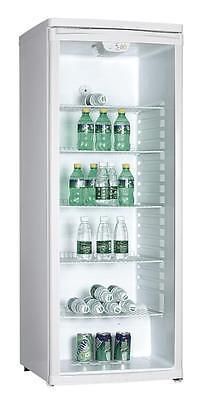 PKM GKS255 Getränkekühlschrank Glas groß Flaschenkühlschrank Freistehend weiß