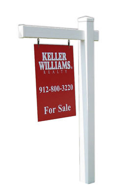 Economy Real Estate Yard Sign Post With Easy Installation Stake And Flat Cap