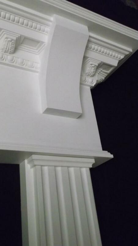 Wood / Gas Arch Fireplace Mantel New Surround Primer White Antique Style Mantels