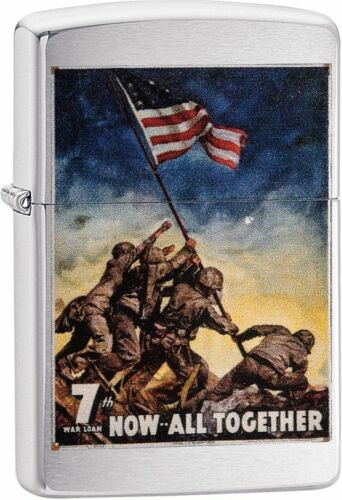Zippo Windproof Vintage War Poster Lighter, 29596, Now All Together, New In Box
