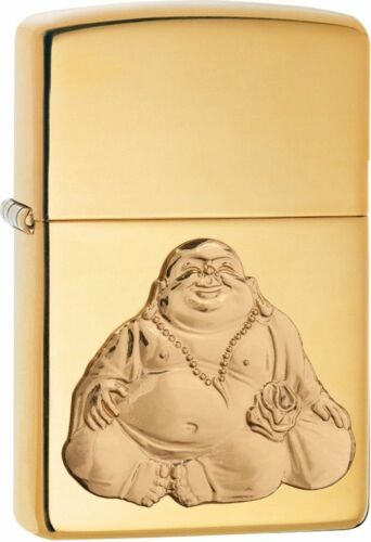 Zippo Windproof Laughing Buddha Emblem Lighter,  29626, New In Box