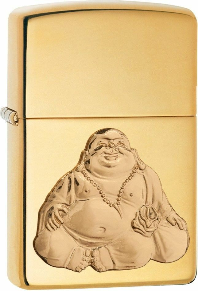 Zippo Windproof Laughing Buddha Emblem Lighter,  29626, New