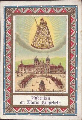 Maria Einsiedeln Wallfahrt Heiligenbild Andenken Österreich Koloriert (B-8095