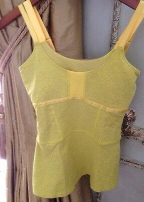 Lululemon Move Tank Yellow Organic Cotton Size 6 Excellent Condition!!