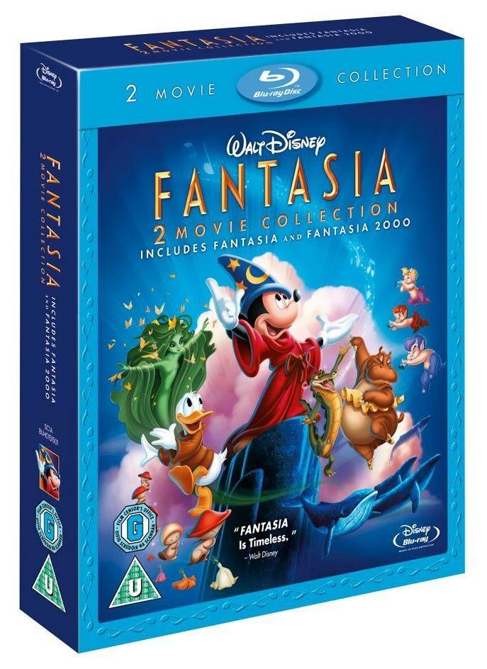 FANTASIA + FANTASIA 2000 2-Movie Collection BRAND NEW BLU-