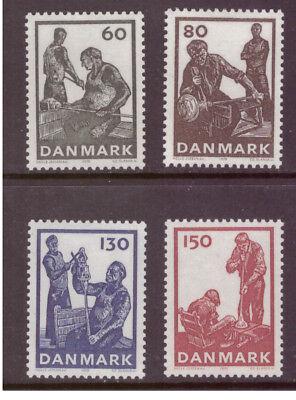 Denmark MNH 1976 Danish Glass Production  set mint stamps