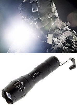 G700 Military Tactical Led Flashlight Navy Seal 5 Mode Beam 2000 Lumen 5000 Lux
