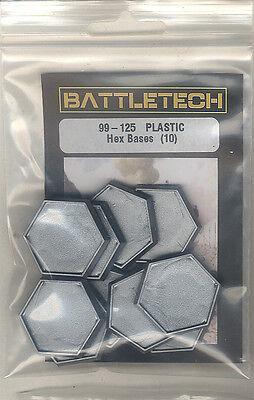 10 Hexbasen (Plastik), passend für BattleTech und Schicksalspfade, Neuware