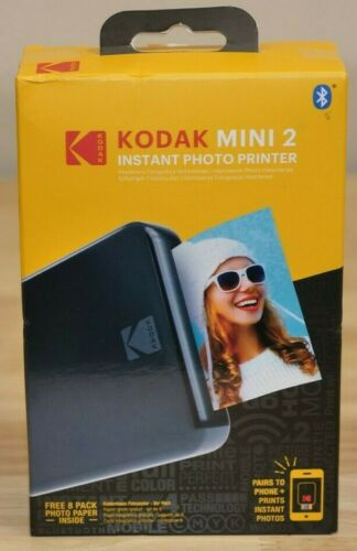 Kodak Mini 2 Instant Photo Printer - Black - BRAND NEW & FACTORY SEALED!!!