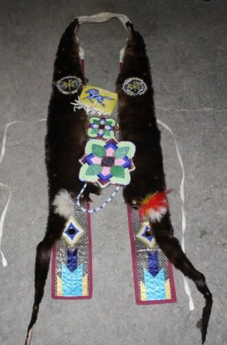 NATIVE AMERICAN BEADED DANCE REGALIA AMAZING PIECE FREE SHIPPING