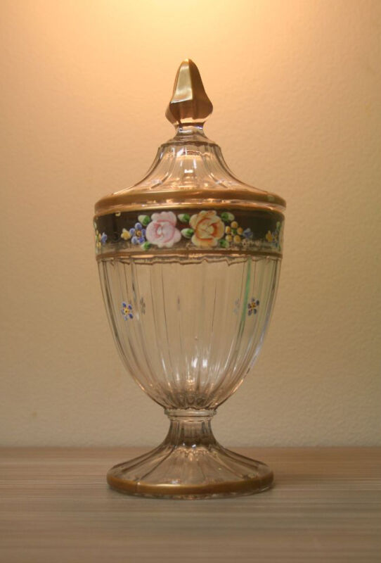 ANTIQUE GLASS / CRYSTAL CONTAINER