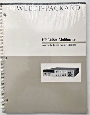 Hp 3458a Multimeter Assembly Level Repair Manual Pn 03458-90010