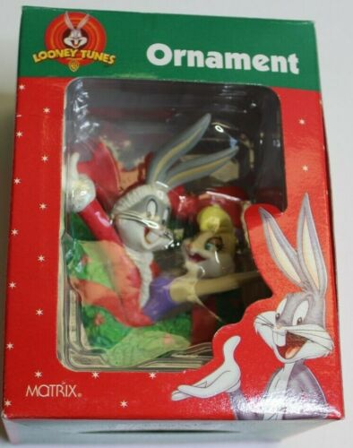 Looney Tunes Bugs Bunny and Lola Space Jam Christmas Ornament 1998 Matrix