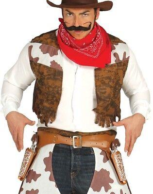 Herren Braun Cowboy Kostüm Set Pistole Holster & Pistols Stütze - Cowboy Pistole Holster Kostüm