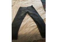 All saints med long low rise jeans 32/34 waist and long
