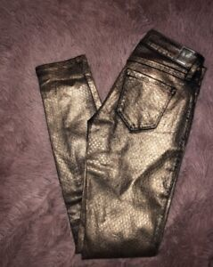 Gold guess jeans