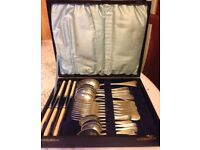 1930s P Spencer Sheffield cutlery set