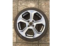 Ford Fiesta st 180 alloy wheel with tyre silver