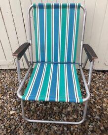 Vintage aluminium folding chair