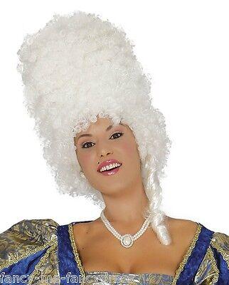 Damen MARIE ANTIONETTE weiß Barock Bienenkorb Kostüm Kleid Outfit Perücke