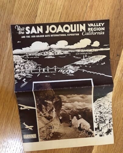 Vintage Visit San Joaquin Valley and 1939 Golden Gate Exposition Magazine