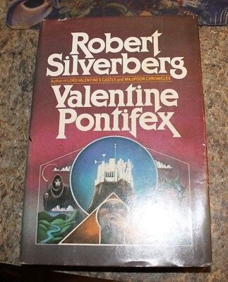 1983 Robert Silverberg Valentine Pontifex science fiction HCDJ - f