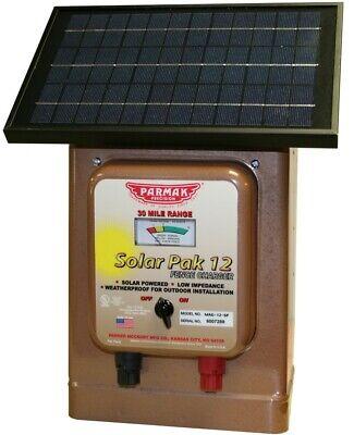 Parmak Mag12-sp Magnum Solar-pak 12 Electric Fence Charger 30-miles 12v