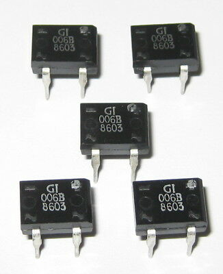 5 X 1 Amp 100 Volt Full Wave Bridge Mini Rectifiers - 4 Pin Dip Pc Board Mount