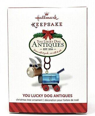 RARE NEW 2014 HALLMARK YOU LUCKY DOG ANTIQUES STEAMPUNK CHRISTMAS ORNAMENT CUTE!