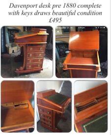 Davenport antique desk