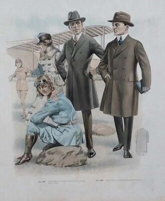 1920 ORIGINAL FEMALE AVIATION PILOT airplane MEN WOMAN FASHION PHOTOGRAPHER Big!