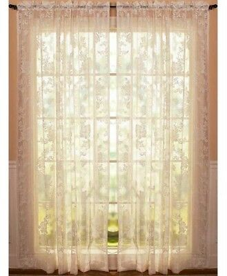 Lace Window Curtains (Vintage Lace Curtains Abbey Rose Swags or Panels Country Lace Window)
