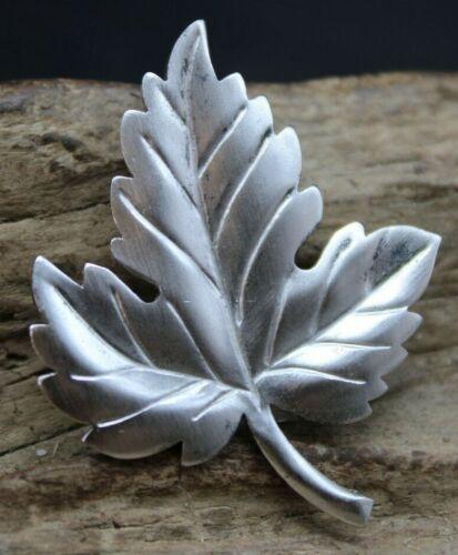 AMAZING Sterling Silver Tiffany & Co Leaf Brooch Pin 34x42mm (J2F)