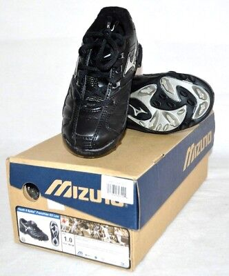 d29c775b1ee NEW Mizuno 9 Spike Black Youth Boys G3 Low Molded Baseball Cleat Cleats  Size 1